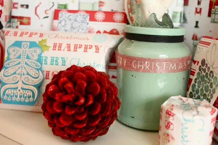 diseo adornos navidad estilo retro with adornos de navidad con pias - Adornos De Navidad Con Pias