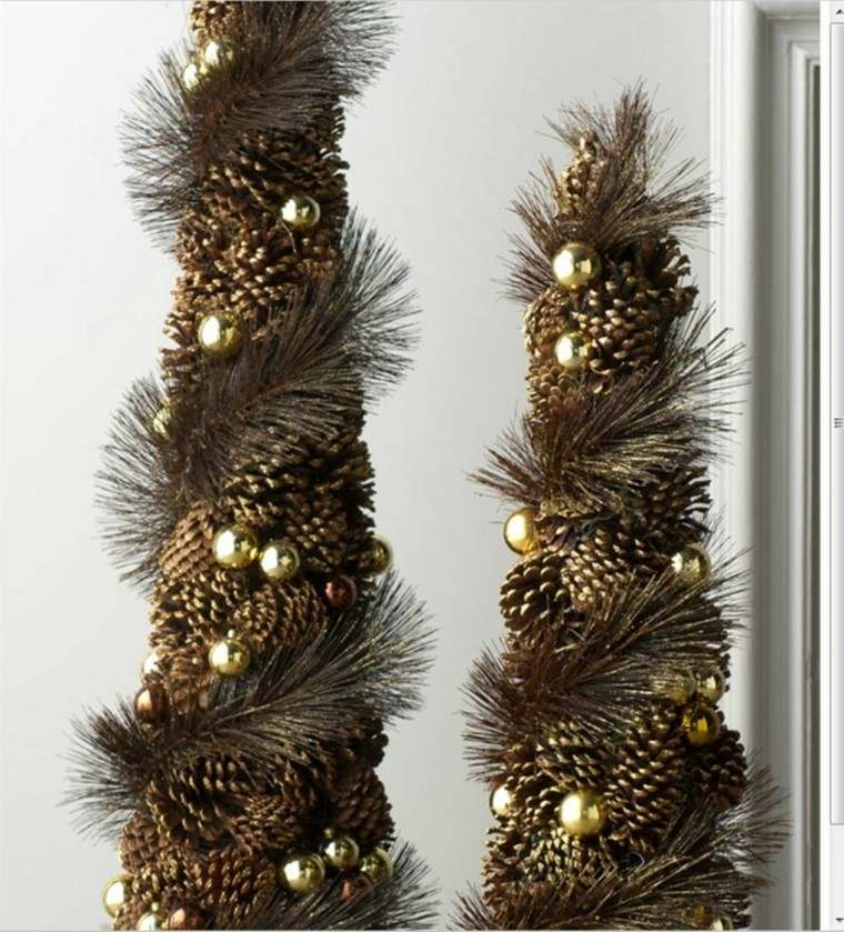 Manualidades para navidad cincuenta ideas originales - Decoracion navidena con pinas ...