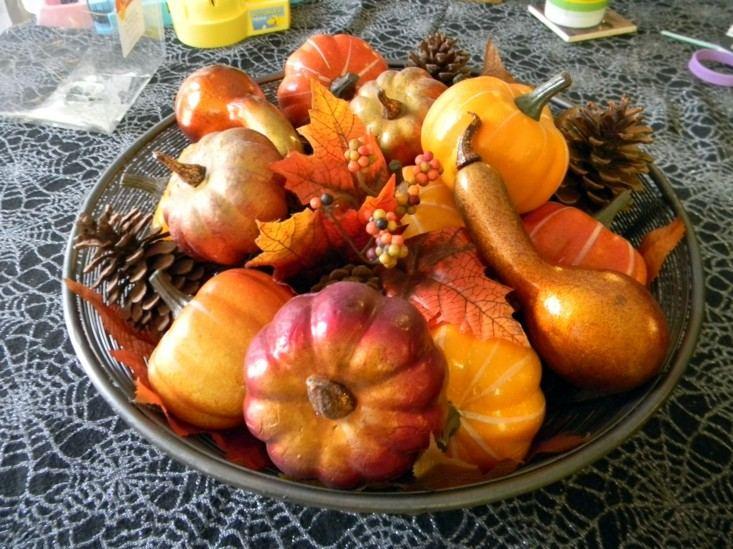 adornos centros mesa otoño colores