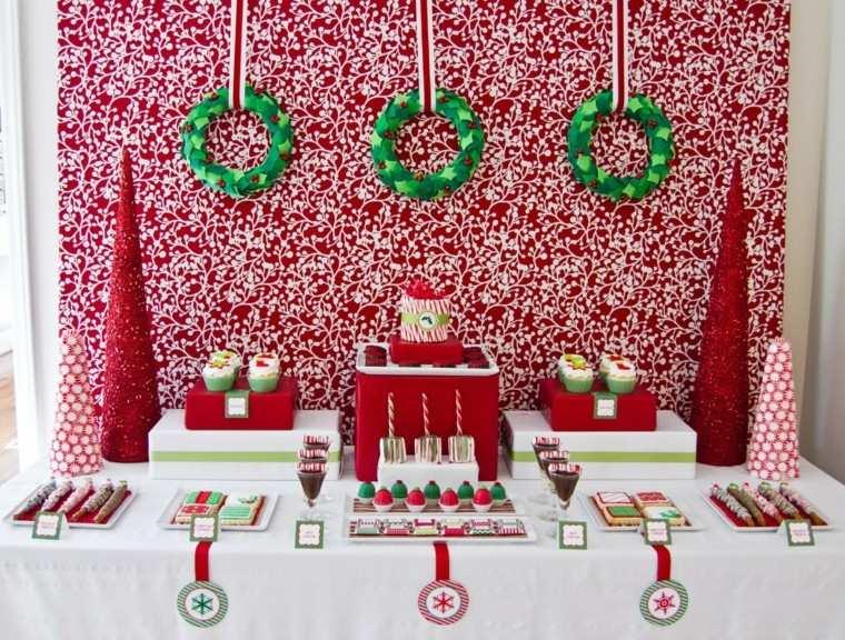 adornos navideos color rojo