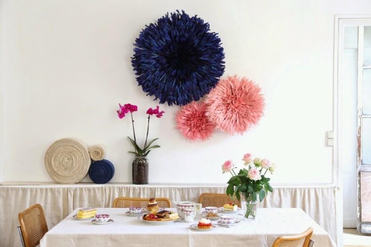 adornos pared Juju azul rosa