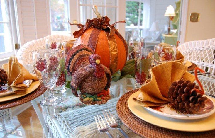 centros mesa calabazas otoño