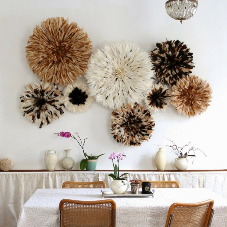 Plumas para decorar cincuenta ideas originales for Adornos originales para decorar casa
