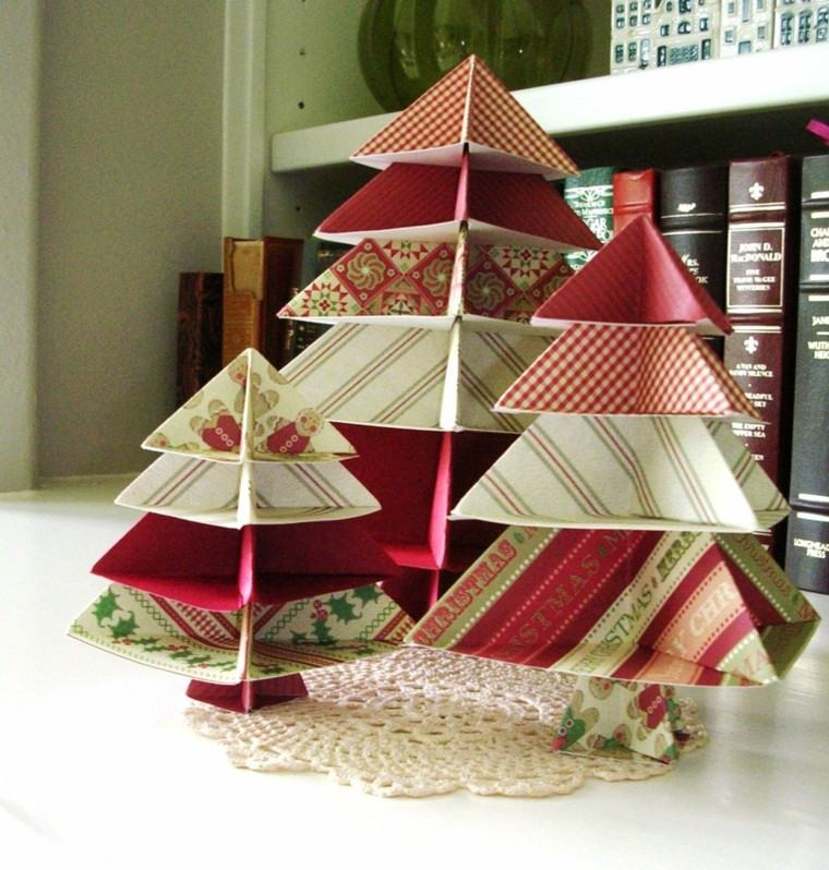 adronos navideños arboles navidad papel