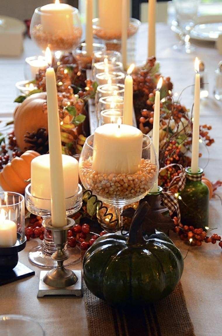 agradable velas estilo copas calabaza
