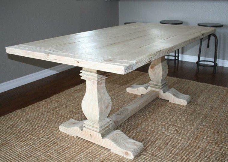 alfombra estilo mesa diseño blanca