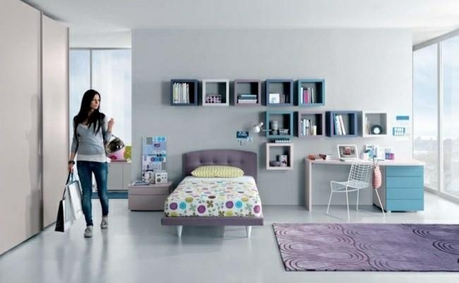 Habitaciones infantiles de estilo moderno 100 ideas - Alfombra morada ...