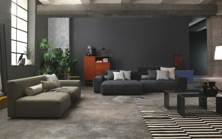 ambiente blanco contraste mobiliario plantas