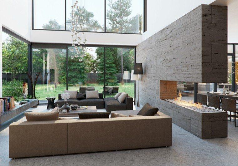 Ambiente con chimenea, diferenciando tu espacio.