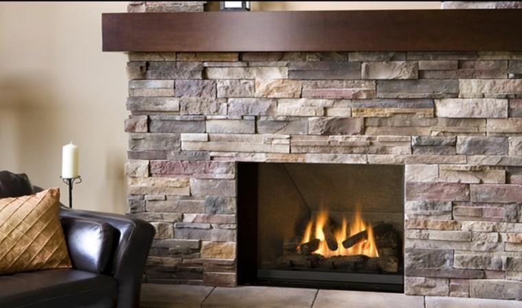 ambiente rustica diseño moderno fuego