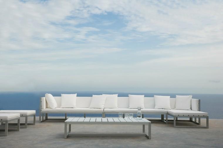 amplio sofa exteriores diseño playa
