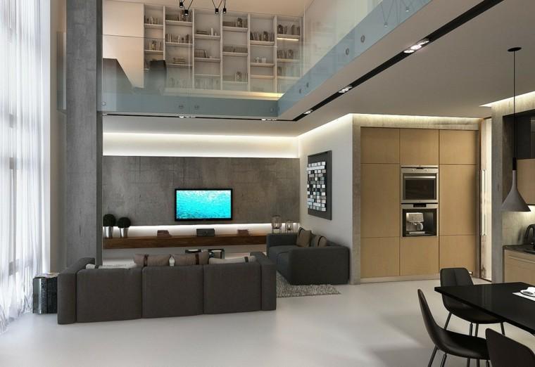 Estudios y apartamentos tipo loft de dise o moderno for Diseno de interiores departamentos modernos