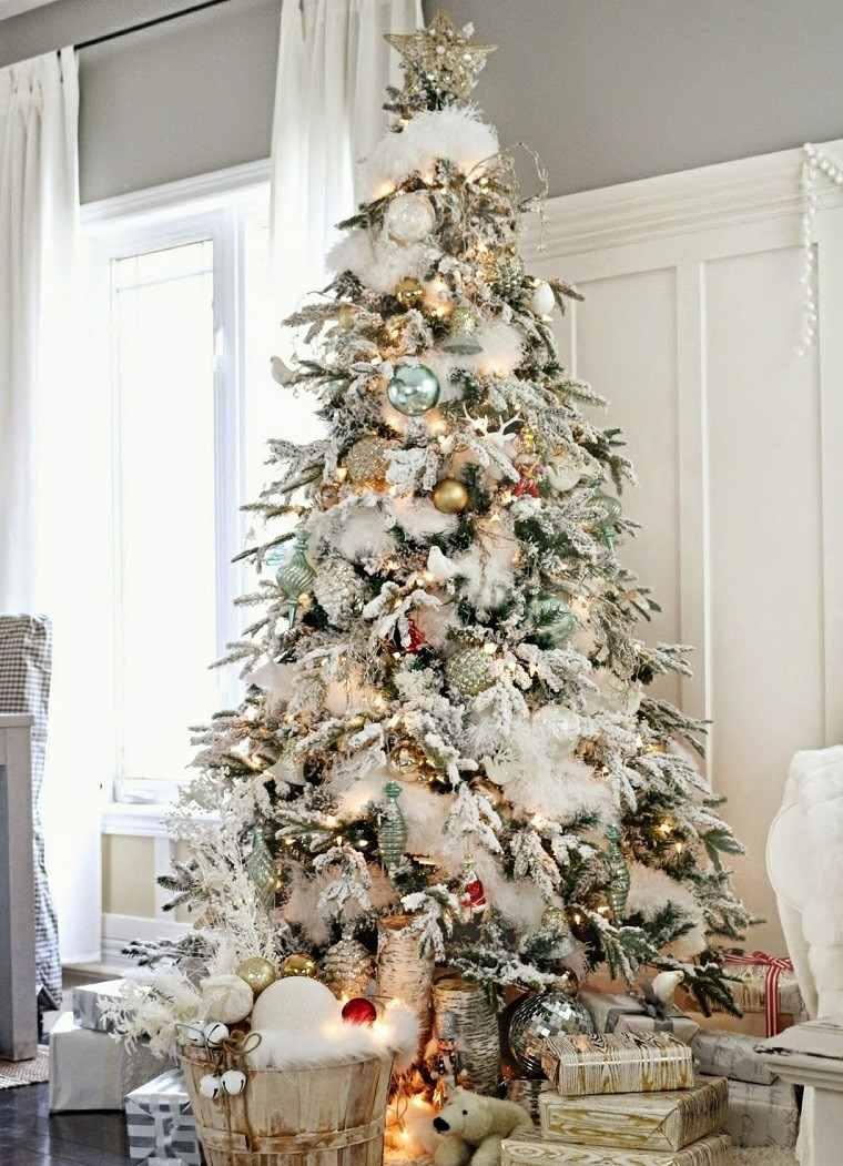 arbol de navidad precioso blanco alto ideas