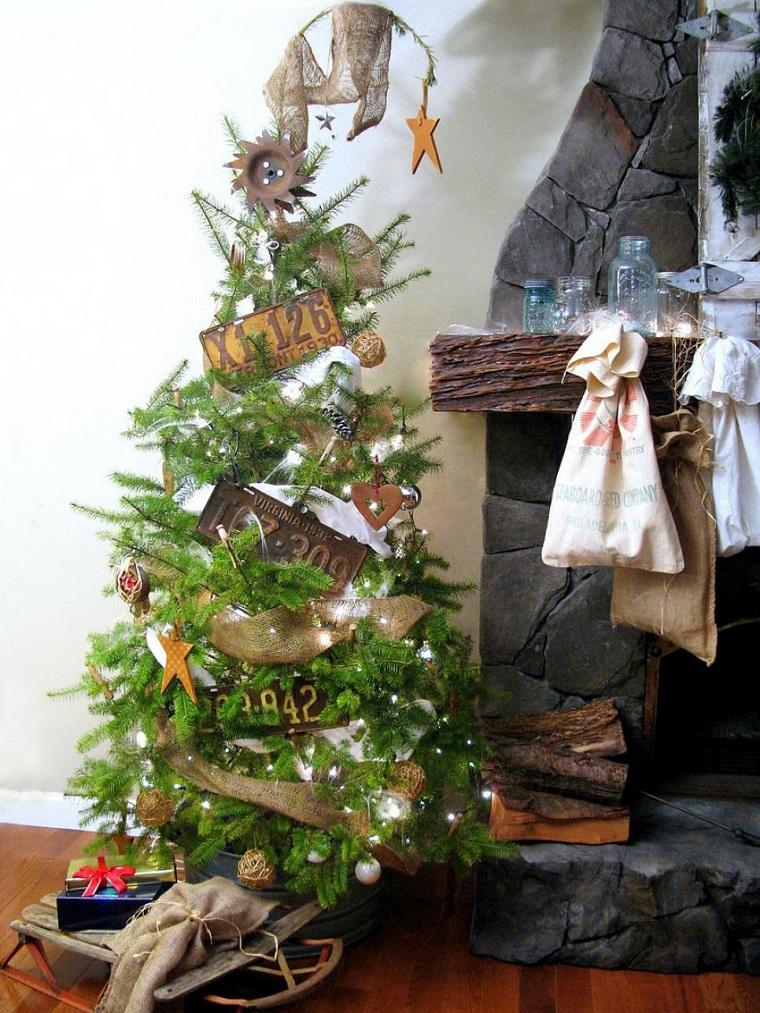 arbol navidad precioso decoracio estilo vintage ideas