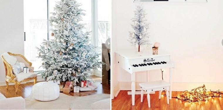 arbol de navidad precioso distintos tamanos nieve artificial ideas