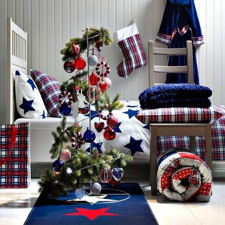 arbol de navidad precioso moderno dormitorio ideas
