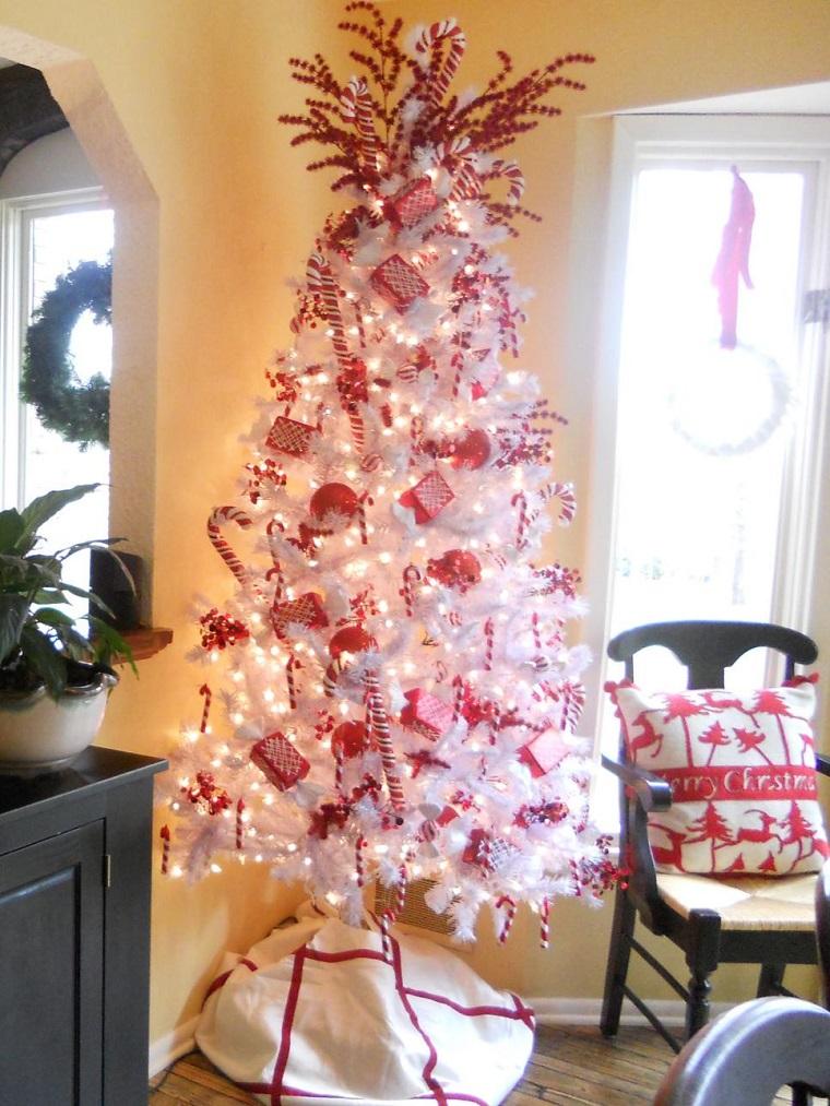 Arbol de navidad 50 ideas preciosas para decorar - Como adornar un arbol de navidad blanco ...