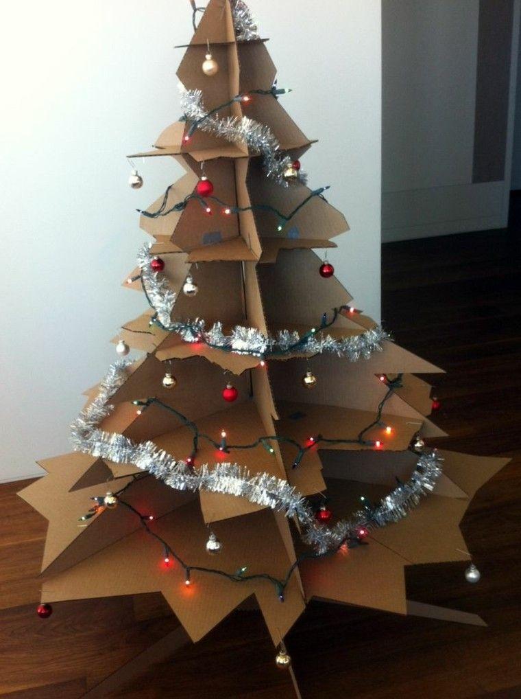 Manualidades de navidad cincuenta dise os sencillos for Arbol de navidad con cajas de carton