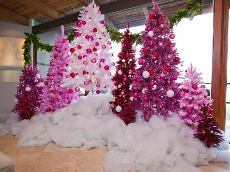 arbol navidad precioso arboles rosa algodon ideas