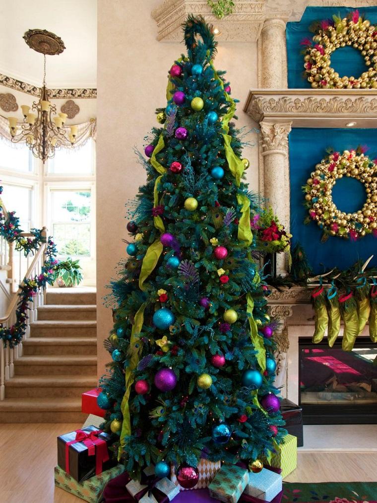arbol navidad precioso bolas guirnaldas ideas