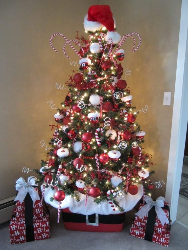 arbol navidad precioso caramelos decorando ideas