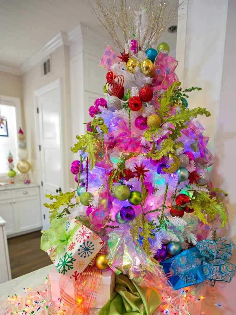 Arbol de navidad 50 ideas preciosas para decorar for Decoracion colores 2016