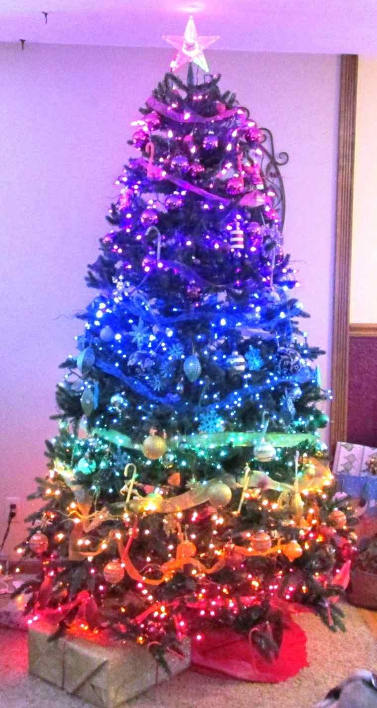 Arbol de navidad 50 ideas preciosas para decorar - Arboles de navidad colores ...