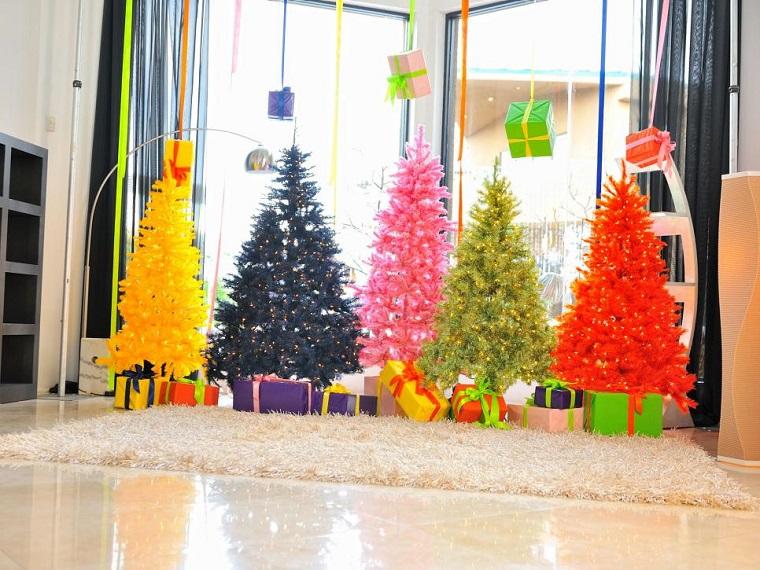 arbol navidad precioso distintos colores artificial ideas