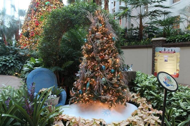 arbol navidad precioso exterior navideno ideas
