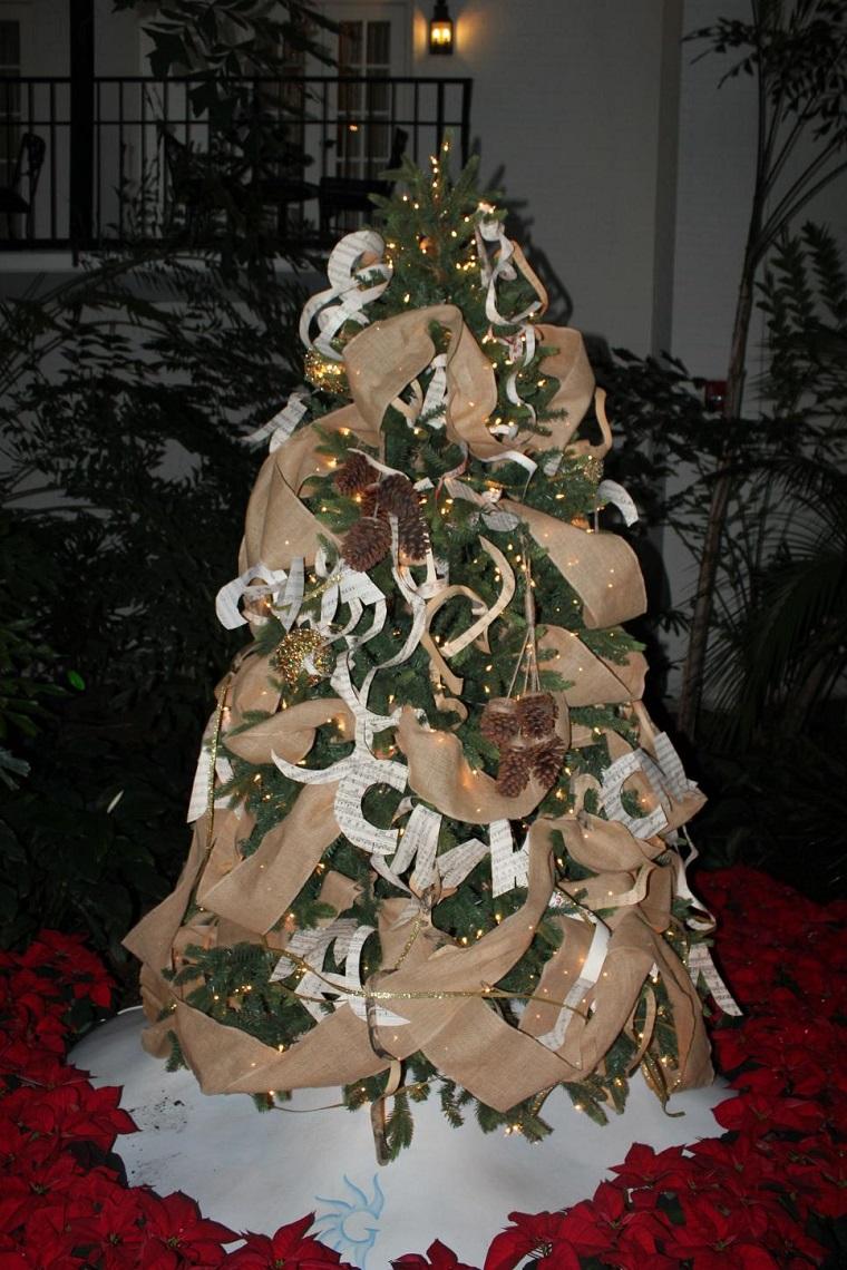 arbol navidad precioso guirnalda original beige ideas