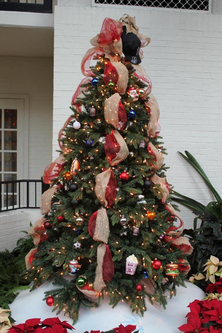 arbol navidad precioso guirnalda original ideas