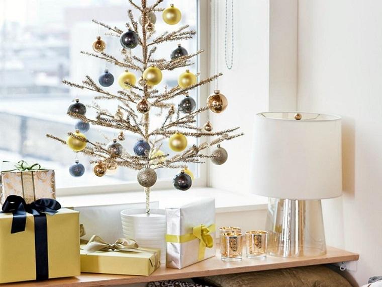 arbol navidad precioso maceta blanca bolas ideas