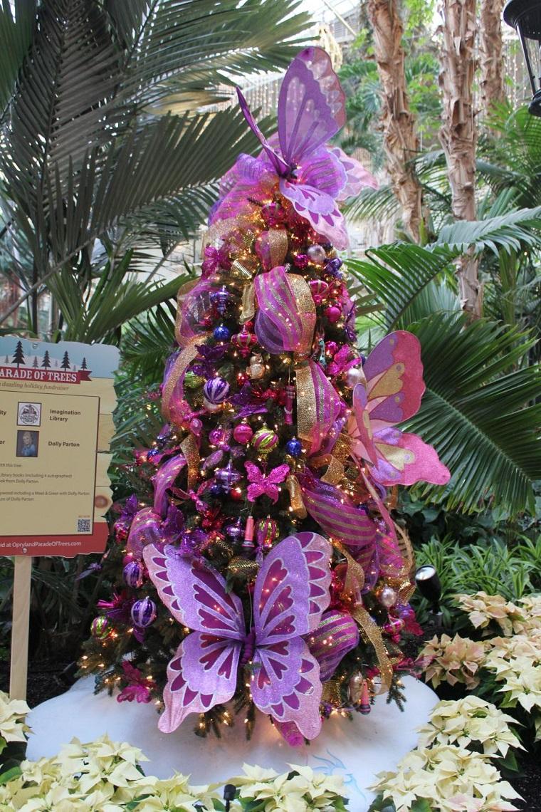 arbol navidad precioso mariposa grande ideas