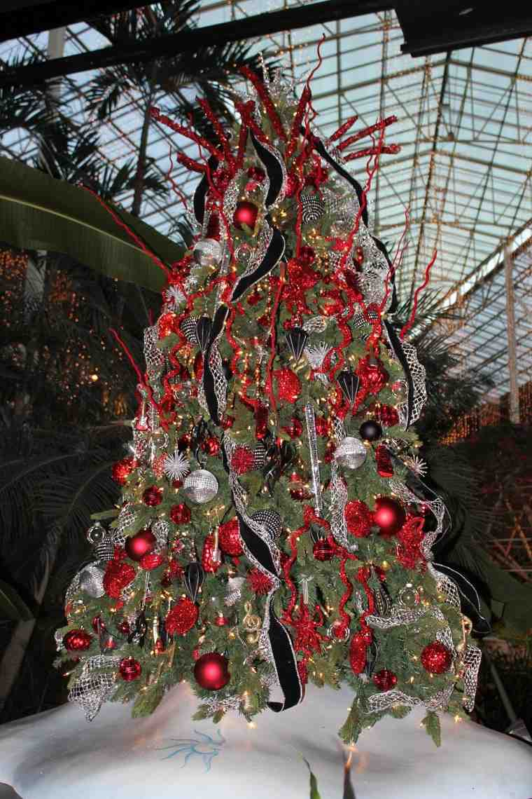 arbol navidad precioso rojo negro ideas