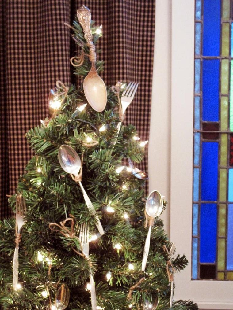 arbol navidad precioso tenedores decorando interesante ideas