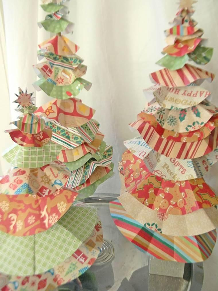 arbolitos navidad volantes papel