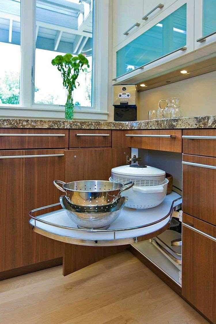 Armarios esquineros y soluciones de almacenaje originales - Almacenaje de cocina ...
