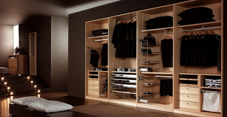 armario mueble vestidor madera natural