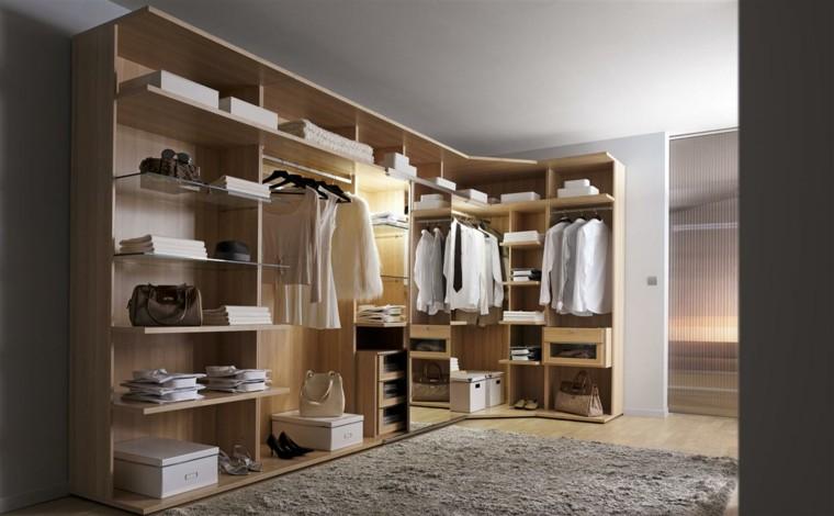 armario vestidor esquina madera