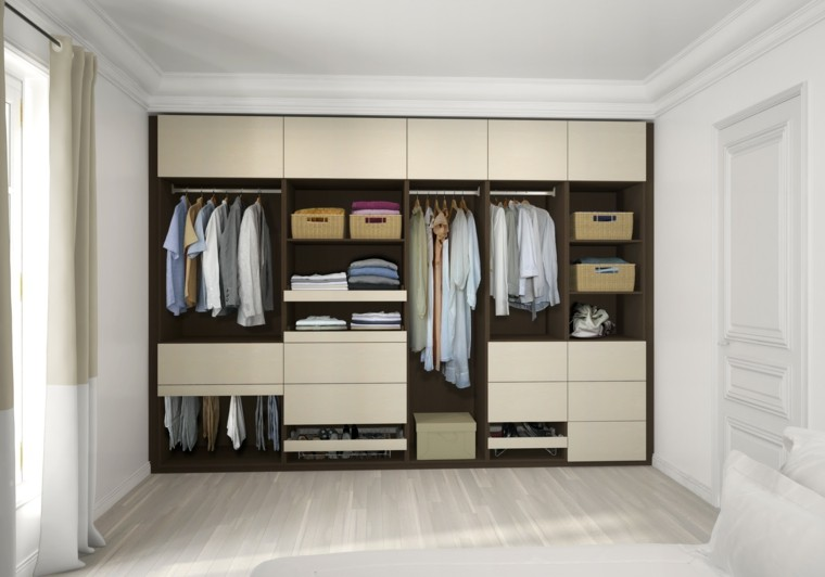 armario empotrado color marron beige
