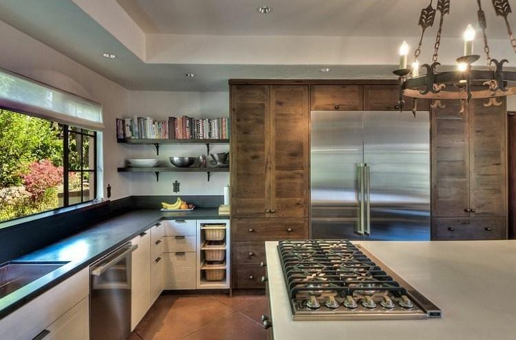 armarios madera grandes cocina estilo contemporaneo ideas