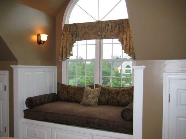 asiento ventana sofa color marron