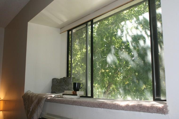 asiento ventana estilo minimalista