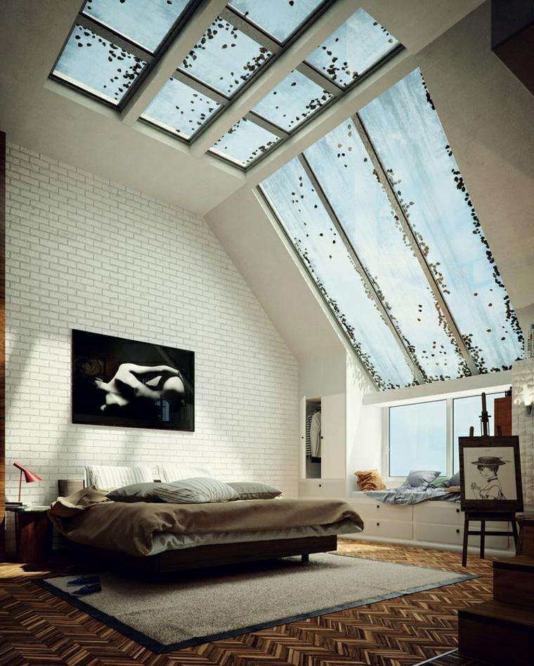 atractivo techo mujer cuadro cristal