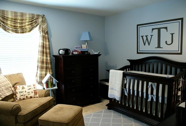 azul paredes estilo cortinas cuadros