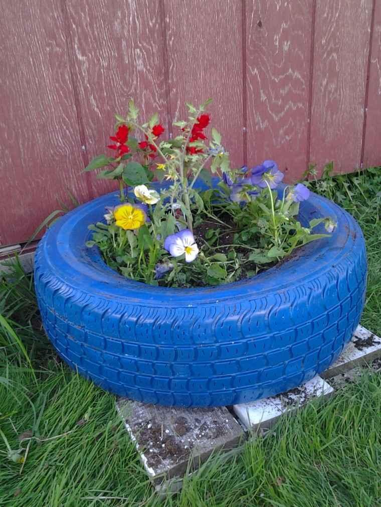 azul variante diseño jardin neumatico