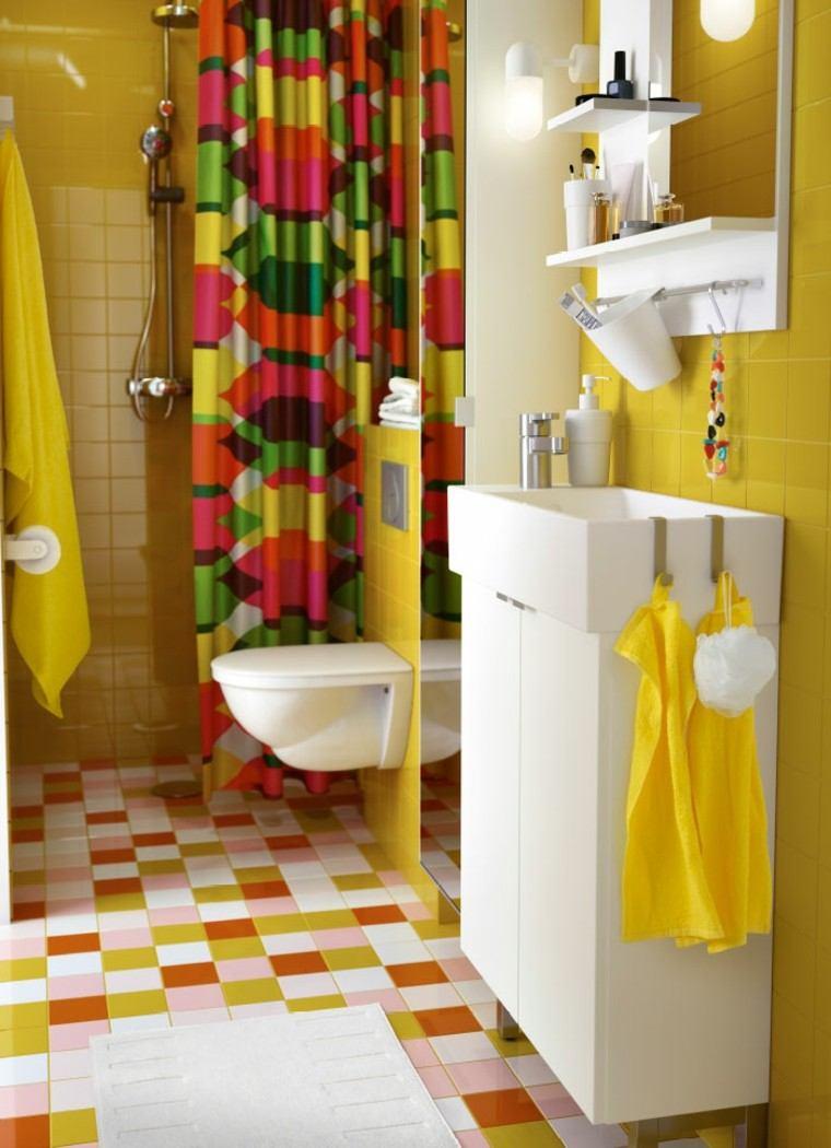 Cuartos De Baño Color Amarillo:Azulejos de baño de color amarillo