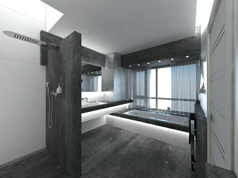 22 Stylish Grey Bathroom Designs Decorating Ideas: Negro, Gris Y Marrón En El Cuarto De Baño