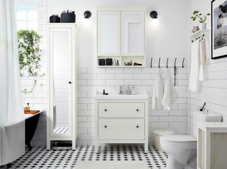 baño color blanco azueljos metro