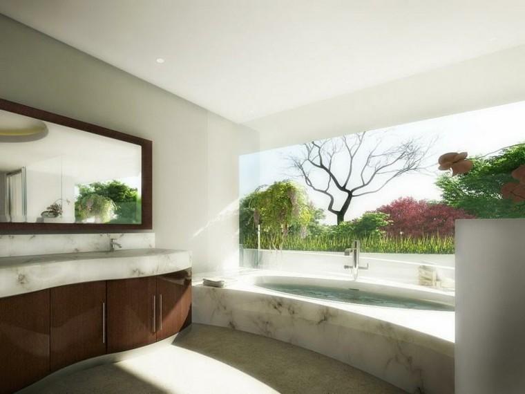 baño estilo lujoso rustico marmol